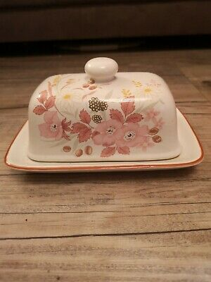 Boots Hedge Rose Butter Dish Vintage Retro • 12£