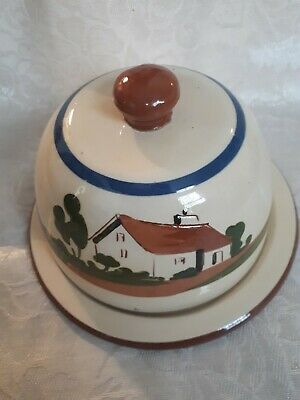 Watcombe Motto Ware Cheese Dome - Daun' Ee Be 'fraid O' It Now • 10£