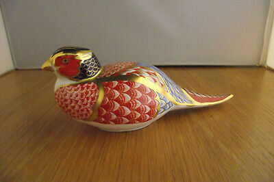 Royal Crown Derby Pheasant Paperweight With Silver Stopper • 8£
