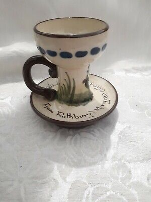 Motto Torquay Ware Cockerel Candlestick  Many Are Called But Few Get Up  From... • 15£