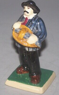 QUIMPER French Faience  Andre Galland Figurine Man With Musical Instrument • 96.97£