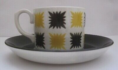TG GREEN & Co Gresley Retro Vintage Patterned Cup And Saucer (Made In England) • 20£