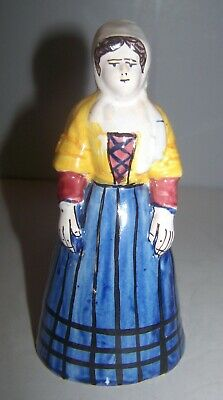 DESVRES  N Quimper French Faience Lady Bell Geo Martel • 73.70£
