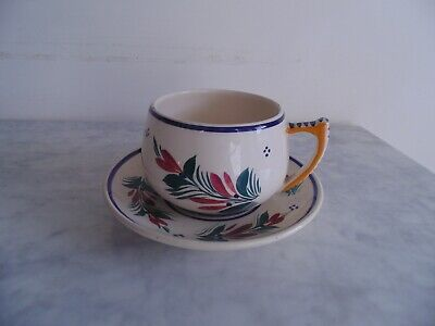 HB Quimper Cup And Saucer. • 4.99£