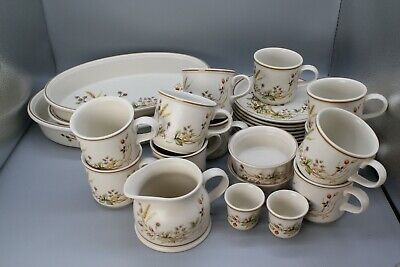 Marks And Spencer Harvest 1418 Cups, Plates, Jug, Baking Dishes • 40£