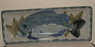 HIGHLAND STONEWARE SCOTLAND  FISH DISH Or WALL HANGING PLAQUE HAND PAINTED  • 69.99£