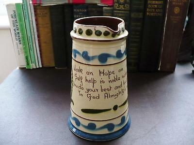 Early 20th C Aller Vale Pottery Large Motto Ware Jug • 29.99£