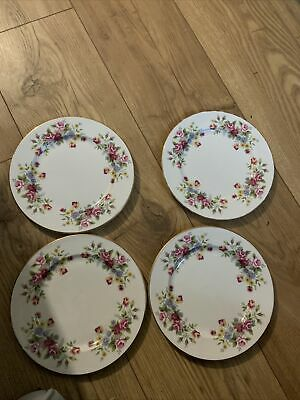 4 Royal Grafton Fine Bone China Tea Plates USED Excellent Condition Floral Gilt • 20£