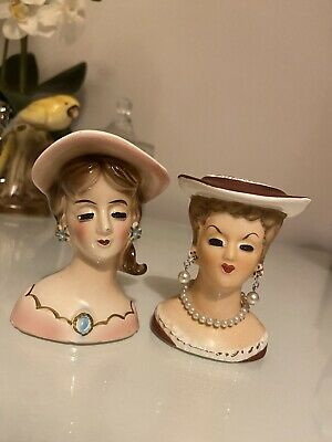 Two Lady Head Vases • 35£