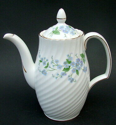 1960's Royal Adderley Sweet Forget Me Not 1.25pt Coffee Pot & Lid 21.5cmh In VGC • 35£