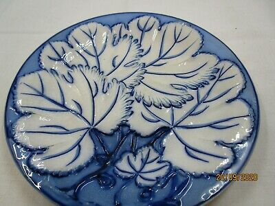 Pearl Ware Blue Plate With Raised Pattern • 2.99£