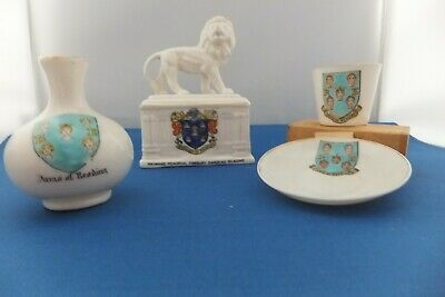 3 Pieces Goss Reading Crested China • 7.50£