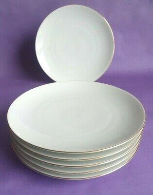 Vintage Thomas Of Germany Gold Banded 17.5cm Side Plates X 6 • 7.99£