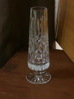Tyrone Crystal Footed 7  Tall Bud Vase - Stamped - Ex Cond • 6.99£