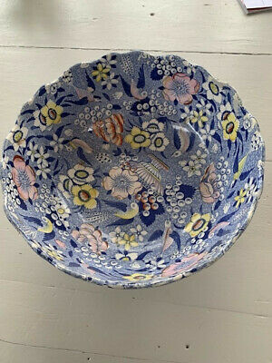 Rare Georgian Chintz Pedestal Bowl By Deakin & Bailey.  Damage To Foot. • 19£