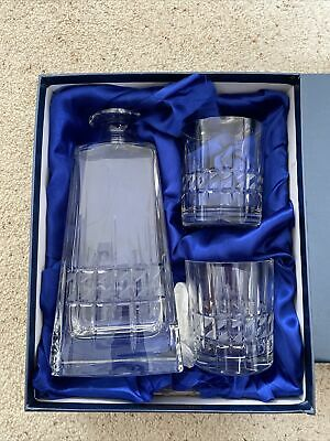 Burridge London Crystal Decanter And Glasses Set New In Box Unwanted Gift • 9£