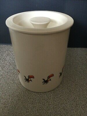 Rare Guinness Vintage Carlton Ware Taller Lidded Pot Jar Toucan Decoration Vgc • 9.99£