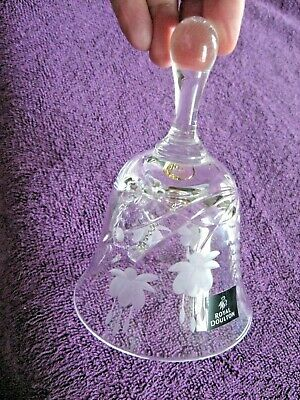 Royal Doulton 5.5  Crystal Glass Bell - Etched Fuschia Design • 3.99£