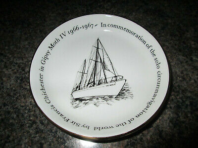 Crown Staffordshire  Gipsy Moth Commemorative Dish - 1967 • 5£