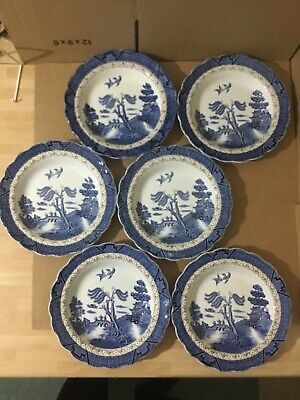 Booths Real Old Willow A8025 Soup Bowls 21.5cm - Six Bowls • 52£