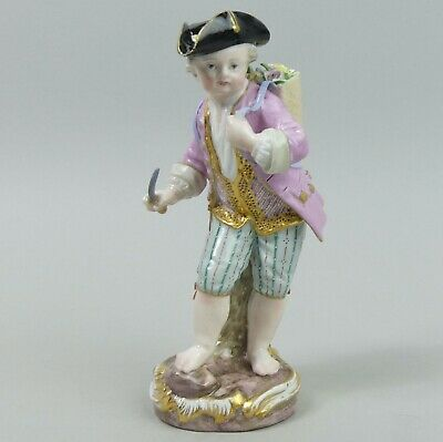 Antique Meissen Porcelain Figure Of A Gardener C,1880 • 262£