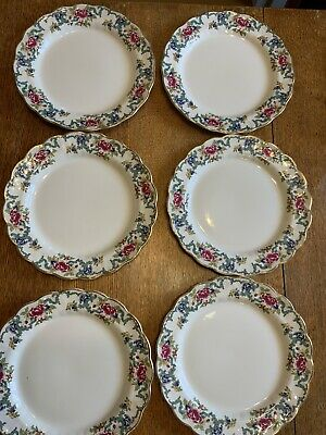 6 BOOTHS FLORADORA DINNER PLATES 10 1/2 Inch Vintage Country Shabby Chic Floral • 15£