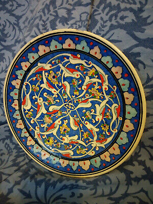 Vintage Hand Made & Hand Painted Sewdl Gini Turkish Pottery Plate • 25£