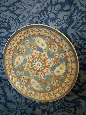 Vintage Hand Made & Hand Painted Altin Gini Turkish Pottery Plate • 25£
