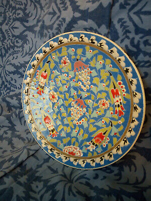 Vintage Hand Made & Hand Painted Gunes Gini Turkish Pottery Plate • 25£