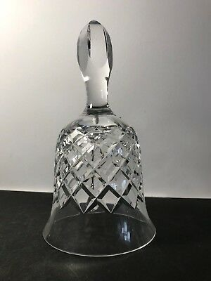 Beautiful Large Crystal Cross-hatch Cut Glass Bell With Tulip Bud Handle • 7.99£