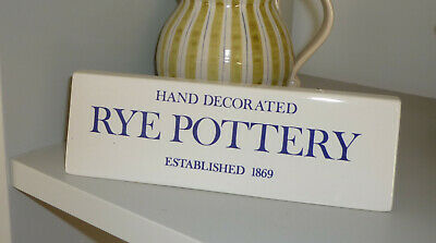 Rye Pottery Advertising Sign • 19.99£