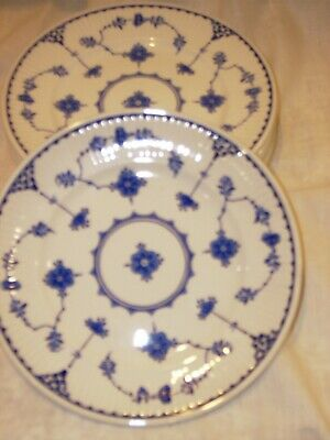 Blue Denmark 6   Set Of 4 Plates Tea Plates Back Stamped With The Masons Logo • 18.99£