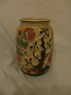 H J Wood Indian Tree Medium 7 Inch Tall Vase Hand Painted Good Condition • 6£
