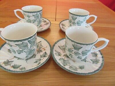 Lovely Vintage BHS Country  Vine Ivy Tableware Cups/mugs & Saucers X 4 • 8£