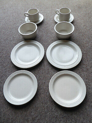 Very Rare Vintage Purbeck Pottery Dover 10 Piece Place Setting For Two - Unused • 50£