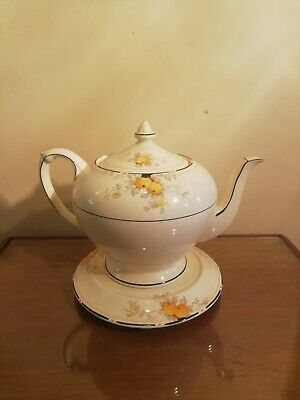 VINTAGE CROWN DUCAL ORCHARD PATTERN, Very Rare.  Teapot And Stand  • 120£