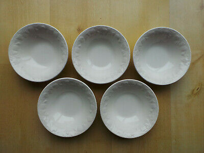 Bhs Lincoln White 6.5  Wide Soup/cereal Bowls X5 • 27.99£