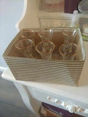 Antique Boxed Sherry Glasses • 10£