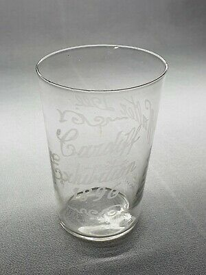 Cardiff Exhibition 1896 - Wales - A Rare Etched Glass Beaker - Walter Lee  • 10.03£