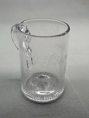 Cardiff Exhibition 1888 - Wales - A Rare Etched Glass Tankard - John Witts • 10.50£