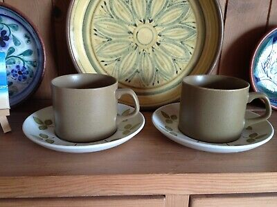 J & G Meakin Maidstone Tulip Time Tea Cups And Saucers X2 • 6£