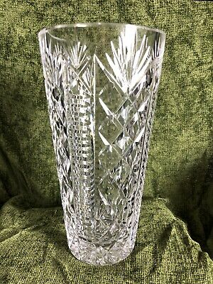 Waterford Lead Crystal Cut Glass Vase Gothic Stamp • 34.99£