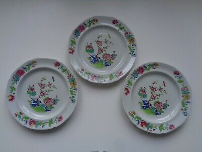 Early SPODE Stone China Plates - Lot Of 3 Circa 1815 - Excellent Condition • 15£