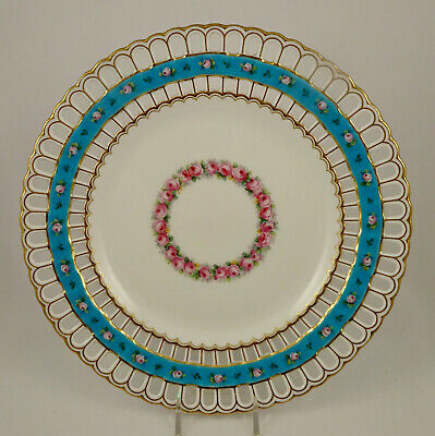 Mintons Cabinet Plate, Reticulated, Roses • 216.66£