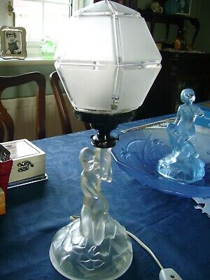 Art Deco Walther Glass Rotterdam Table Lamp. • 130£