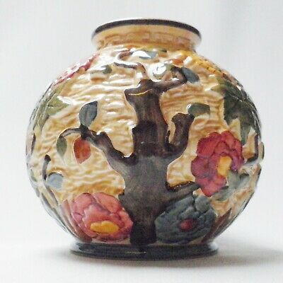 H J Wood Indian Tree Vase - Made In England • 14.99£