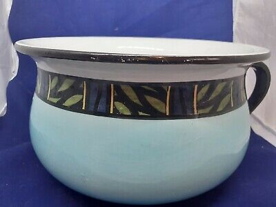 Vintage Soho Pottery Chamber Pot Turquoise With Art Deco Style Band • 8£