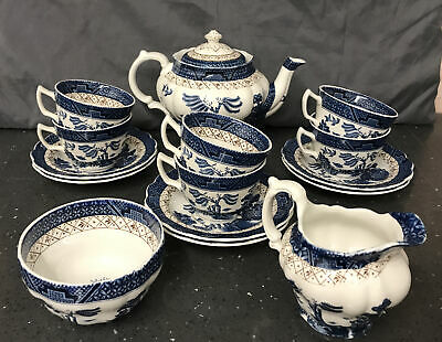 "Booths ""Real Old Willow"" A8025 Teaset Blue & White • 50£"