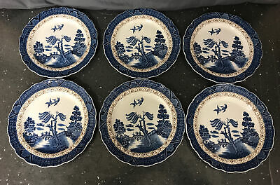"Booths "" Real Old Willow"" A8025 Side Plates 17.5cm X 6 • 20£"