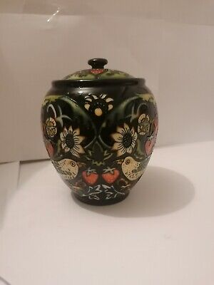 Moorcroft Pottery Strawberry Thief Jar And Cover • 225£